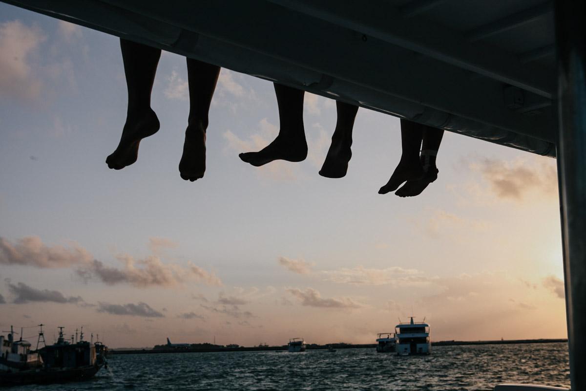 Malediven, Südmale Atoll, Surf Boattrip