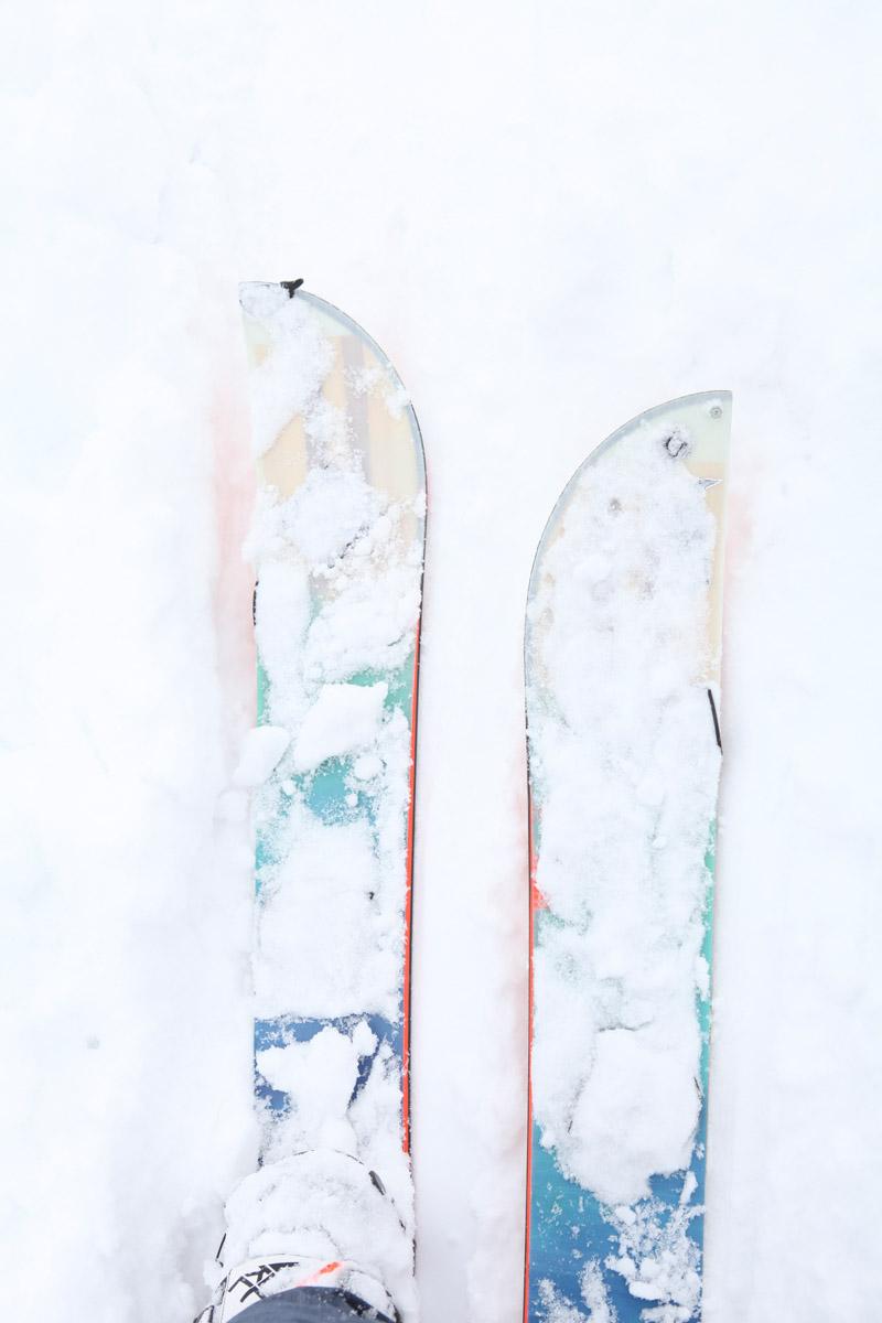 Österreich, Tirol, Zillertal, Splitboarden